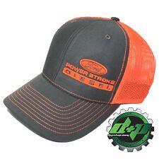 4b3cc93674538 Ford Powerstroke richardson 112 hat truck Charcoal Gray ORANGE mesh snap  back