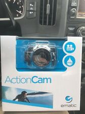 New Ematic EVH625BL AVI Video Recording ActionCam HD with Post & Helmet Mount