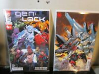 GEN LOCK #1 Main Cover + Jim Lee Variant Set DC 2019 BAGGED BOARDED