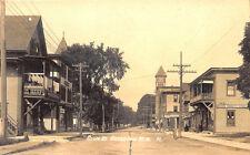 Groveton NH State Street Business District Eastern Illustrating RPPC Postcard