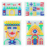 Children Kids Puzzle Peg Board With 296 Pegs Educational Toys Creative Gifts-WI