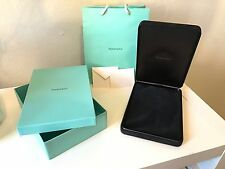Tiffany & Co Authentic Large Suede Necklace Box, Outer Box, Bag. NO CARD. NEW