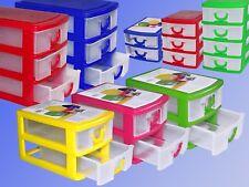 Sortierbox mit 2-3-4 Schubladen Kleinteile Magazin stapelbare Aufbewahrungs Box