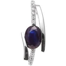 Echtschmuck-Halsketten & -Anhänger mit Saphir Brillantschliff