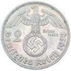 Rare Third Reich WW2 German 2 Reichsmark Hindenburg Silver Coin Buy 3 Get 1 Free