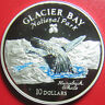 1997 COOK ISLANDS $10 SILVER PROOF HUMPBACK WHALE GLACIER BAY NATIONAL PARK RARE