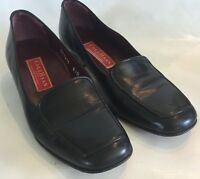 Cole Haan City Women's Black Leather Loafers Size 6.5 B Slip On Italy Classic