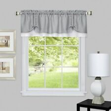 """Achim Home Darcy Window Curtain Valance in Gray-White Polyester, 58"""" x 14"""" Size"""