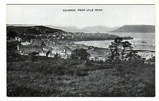 Gourock From Lyle Road - Photo Postcard c1910