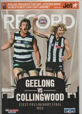 AFL Football Record 2007 First Preliminary Final GEELONG V Collingwood EX+ cond