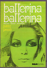 PATTY PRAVO SPARTITO MUSICALE BALLERINA BALLERINA