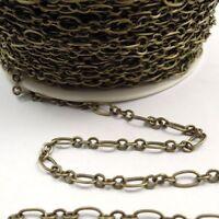4M/lot Antiqued Bronze Brass Necklace Bracelet Dangle Chain Jewelry 8*5mm 31872