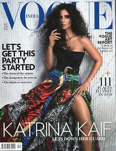 VOGUE INDIA Dezember 2018 -Bollywood- Englischsprachiges Mode-Magazin aus Indien
