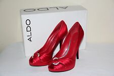 NEW Aldo Lakey Women's Platform Shoes HIGH Heels Red Shoes Size US 6.5 / EUR 37