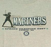 Seattle Mariners Spring Training 2007 T Shirt Medium EUC Baseball Gray INV1645