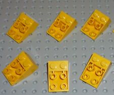 LEGO - YELLOW - SLOPE INVERTED, 33% 2 x 3 No Connection x 6 (3747a) SV49