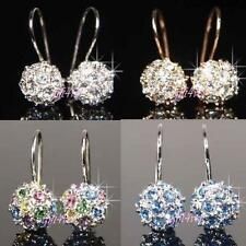 Unbranded Rose Gold Plated Round Leverback Costume Earrings
