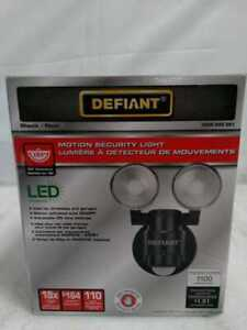 180-Degree Black Motion Activated Outdoor Integrated LED Flood Light by Defiant