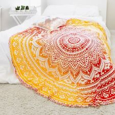 Ombre mandala tapestry cotton round hippie table cloth beach outdoor home decor