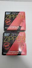 Heavy duty zip walls Zippers red lot of two No Zipper knife