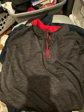 Mens Colosseum Athletics Xxl Light Weight 1/4 Zip Grey Pull Over