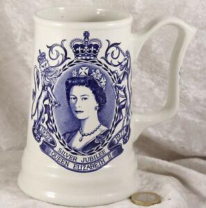 Silver Jubilee Pride by Weatherby H M Queen Elizabeth II 1952 to 1977 tankard