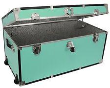 Mercury Luggage Seward Trunk 31-Inch Wheeled Storage Footlocker in Pool Blue