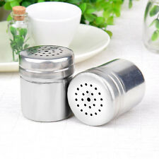 Stainless Steel Spice Sugar Salt Pepper Herb Shaker Jar Toothpick Storage Bottle