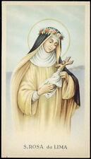 "santino-holy card""""ediz.  GN  n.3244 S.ROSA DA LIMA"