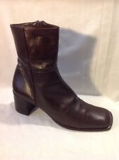 L.K.Bennett Brown Ankle Leather Boots Size 39