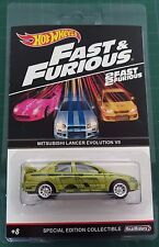 Hot Wheels Custom Mitsubishi Lancer Evolution VII Fast and Furious