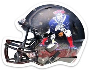 New England Patriots Minuteman Logo Helmet Type NFL Football Die-cut MAGNET