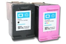 2x XXL CARTUCHO TINTA negro y color para HP 901 901xl Officejet J4580 / J4600