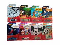 Mattel Hot Wheels Disney Mickey Mouse Fahrzeuge 8er Set, Rennautos, Neu 32`Ford