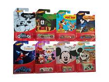 Mattel Hot Wheels Disney Mickey Mouse Fahrzeuge 8er Set, Rennautos, Neu 32`Ford