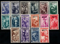 Triest - Zone A 1950 Sass. 89-104 Postfrisch 40% Italien bei der Arbeit