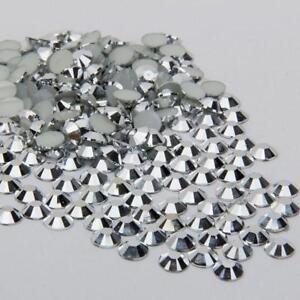5000 sparkling Resin Rhinestone Flatback Crystal 2mm,3mm,4mm,5mm 6mm #01
