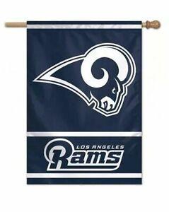 LA Rams Los Angeles 2 Sided Garden Flag Outdoor Window Yard Banner New