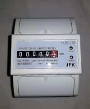 electronic kwh meter 100amp 230 volt din rail mount New Model