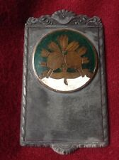 ANTIQUE Chinese Sport Ping Pong Table Tennis Champion Bronze Enamel Silver Medal