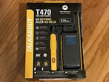 Motorola Talkabout T470 Two-Way Radio, 35 Mile, 2 Pack, Black & Yellow, New FS!