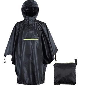 Wasserdichter Regen Poncho Wandern Radfahren Fahrrad Regenmantel Regencape - DE