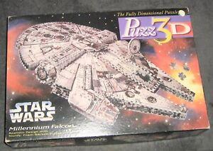Puzz3D Vintage 1995 Star Wars Millennium Falcon 3-Dimen Puzzle Milton Bradley,MB