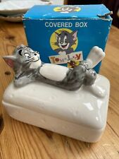 More details for vintage tom & jerry collectables covered ceramic box with box