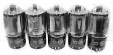 5 Used GE 6L6GC Tubes Tested Excellent For Western Electric 124C Tube Amplifier