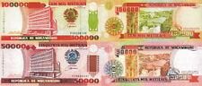 MOZAMBICO - Mozambique Lotto 2 banconote 50.000/100.000 meticais 1993 FDS - UNC