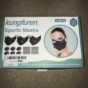 3 Sets! kungfuren Sports Cycling Mask Carbon Filters Cycling mask