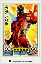 2011 Topps Marvel Universe Hero Attax Collectors Card Rainbow Foil #4 Iron Man