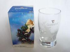 "GUINNESS STOUT Beer CHRISTMAS Shot GLASS Malaysia REINDEER 2010 Smoothness 4"""