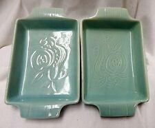 Vintage Royal Copley?? Apple & Pear Dishes - Aqua - Set of 2